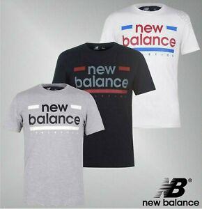 Adorno-Acanalado-Para-Hombre-New-Balance-Manga-Corta-Camiseta-Top-Tamanos-de-la-Linea-S-a-XXL