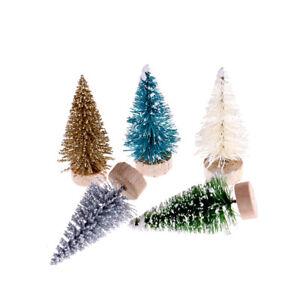 12x-Albero-di-Natale-fai-da-te-Piccoli-alberi-di-pino-Decorazioni-di-Natale