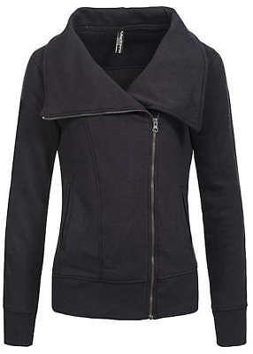 43% OFF B15100564 Damen Madonna Jacke Sweat Jacke hoher Kragen Zipper schwarz | eBay