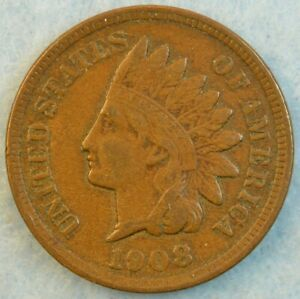 1908-Indian-Head-Cent-Penny-Very-Nice-Old-Coin-Fast-S-amp-H-433