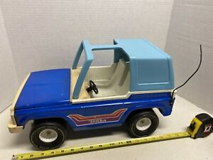 VINTAGE-Tonka-Bronco-835TR-Large-Blue-T-Top-1970s-Pressed-Steel-Toy-Truck