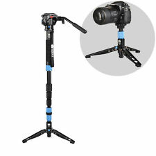 Sirui P-204S Aluminum Monopod w/ Three Stand Feet with VA-5 Fluid Video Head
