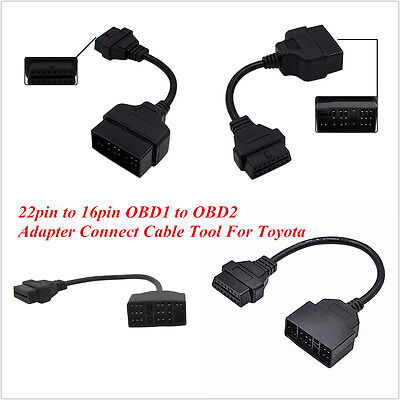 For Toyota 22 Pin to 16Pin Male OBD2 OBDⅡCar Diagnostic Connector Adapter Cable