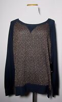 Ana A Approach Navy Blue Copper Sweater Size 1x