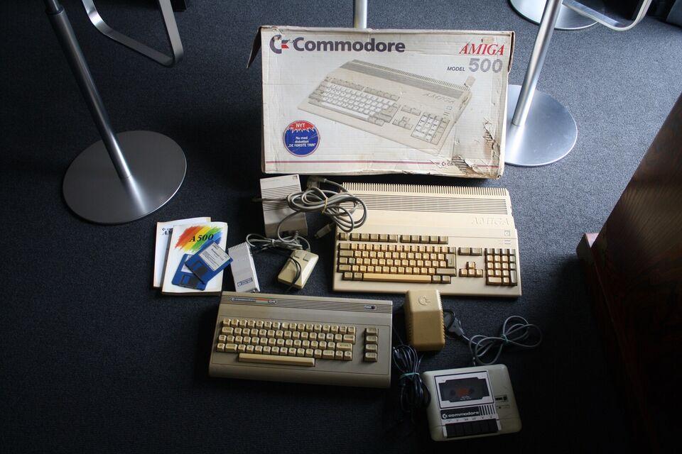 Amiga 500 og Commodore 64 sælges, spillekonsol, Rimelig