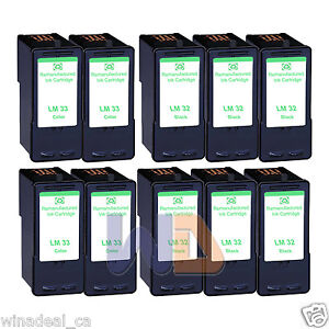 10PK-Lexmark-32-33-Ink-Cartridge-For-X3330-X5250-X5450-X3350-X5270-X5470-Printer