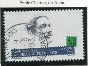 STAMP-TIMBRE-FRANCE-OBLITERE-N-2800-EMILE-CHARTIER