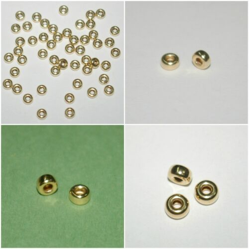 WHOLESALE LOTS 14kt Gold Filled Rondelle Spacer Beads 3mm, 4mm, 5mm, 6mm