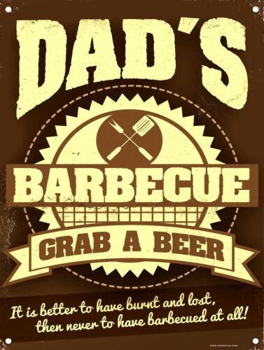 Retro metal Sign//Plaque Dad/'s BBQ Kitchen Home Gift Garden