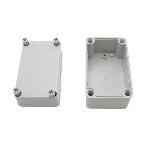 1x Plastic Junction Box Waterproof Electrical Box ABS Material Case 130x80x85mm