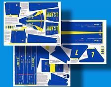 Blue Angels Skin Kit for Estes Interceptor Model Rocket & Scratch Build Plans