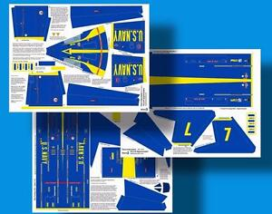 Accur8-Blue-Angels-Skin-Kit-for-Estes-Interceptor-1250-Model-Rocket