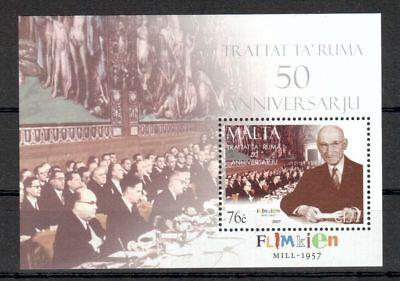 1555 Zu Hohes Ansehen Zu Hause Und Im Ausland GenießEn Malta Michelnummer Block 40 Postfrisch intern: Land