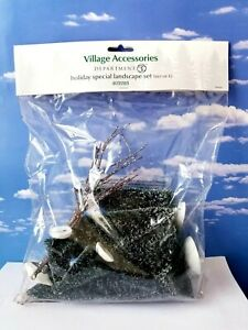 DEPT 56 Village Accessories HOLIDAY SPECIAL LANDSCAPE SET of 6!  Trees