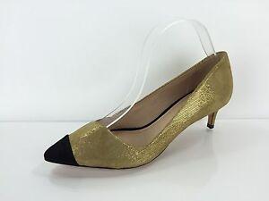 Tory Burch Damens's Damens's Burch Gold Leder Heels 7.5 M     edee3a