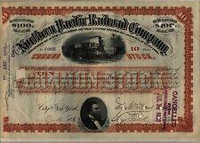 Northern Pacific Railroad Company Stock Certificate Rust