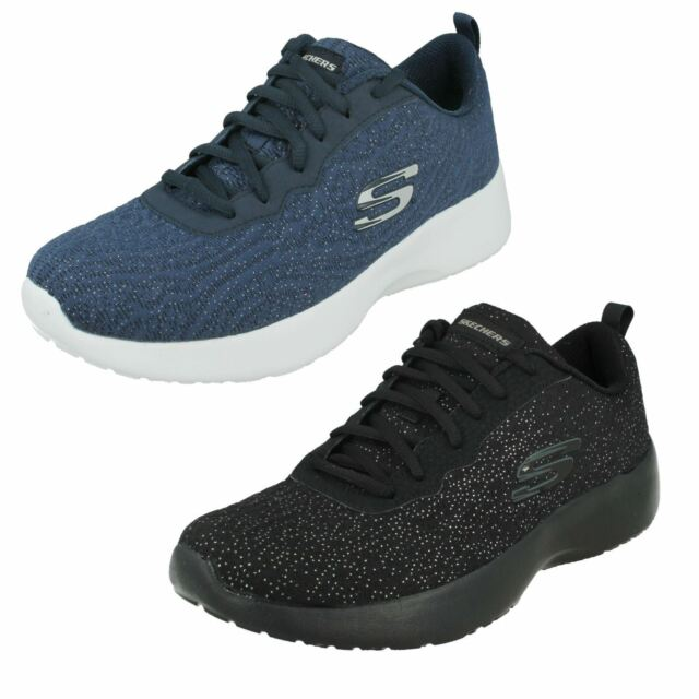 LADIES SKECHERS LACE UP MEMORY FOAM CASUAL TRAINERS DYNAMIGHT BLISSFUL 12149