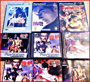 SONY-PS2-PSX-ALLE-6-TEKKEN-GAMES-VON-NAMCO-IN-EINEM-PAKET-KULT-1-2-3-4-5