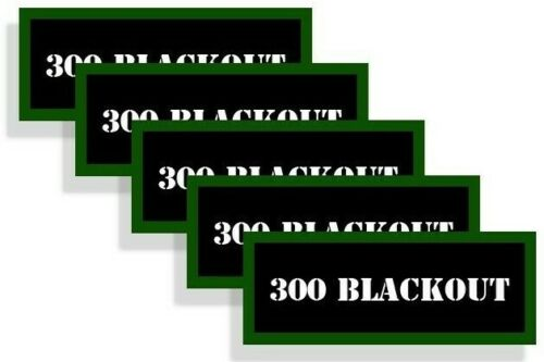 Ammo Can Labels 300 BLACKOUT Ammo Can Decals Ammunition Can Vinyl Sticker 5-pack