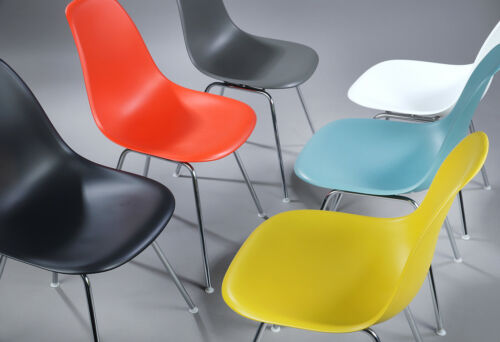 MID CENTURY DESIGN CHARLES EAMES MULTICOLOURED SHELL CHAIRS MODEL DSX (6)