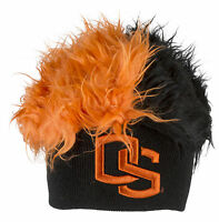 Oregon State Knit Beanie With Hair, Orange And Black, One Size