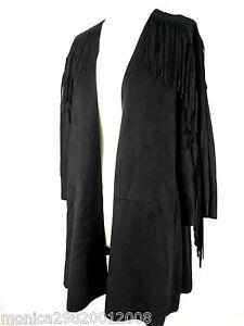 ZARA-giacca-nera-con-frangia-TAGLIA-MEDIA-Ref-2969-245