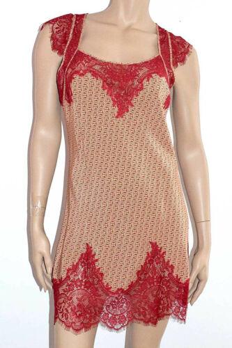 MARJOLAINE NUISETTE Soie /& dentelle Calais Tailles XS a XL Imprime Rouge /'Defie/'