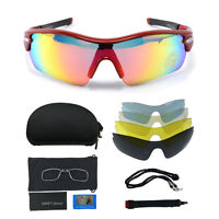 Outdoor Polarized Uv400 Fishing Riding Cycling Wrap Sunglasses Driving Glasses