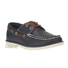 TIMBERLAND 3197A Youth Earthkeepers® Seabury Classic 2-Eye Boat Gr.39 Leder Navy