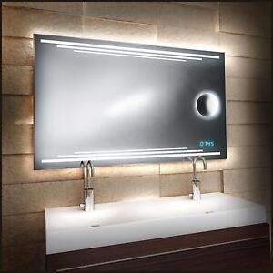 design led spiegel mit integriertem kosmetikspiegel 60 80. Black Bedroom Furniture Sets. Home Design Ideas