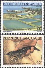 French Polynesia 1980 Aquaculture/Shrimp Farming/Nature/Wildlife 2v set  n45313q