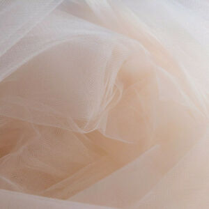 Pastel-Peach-Champagne-Fine-Tulle-fabric-300cm-wide-by-the-M-Net-fabric