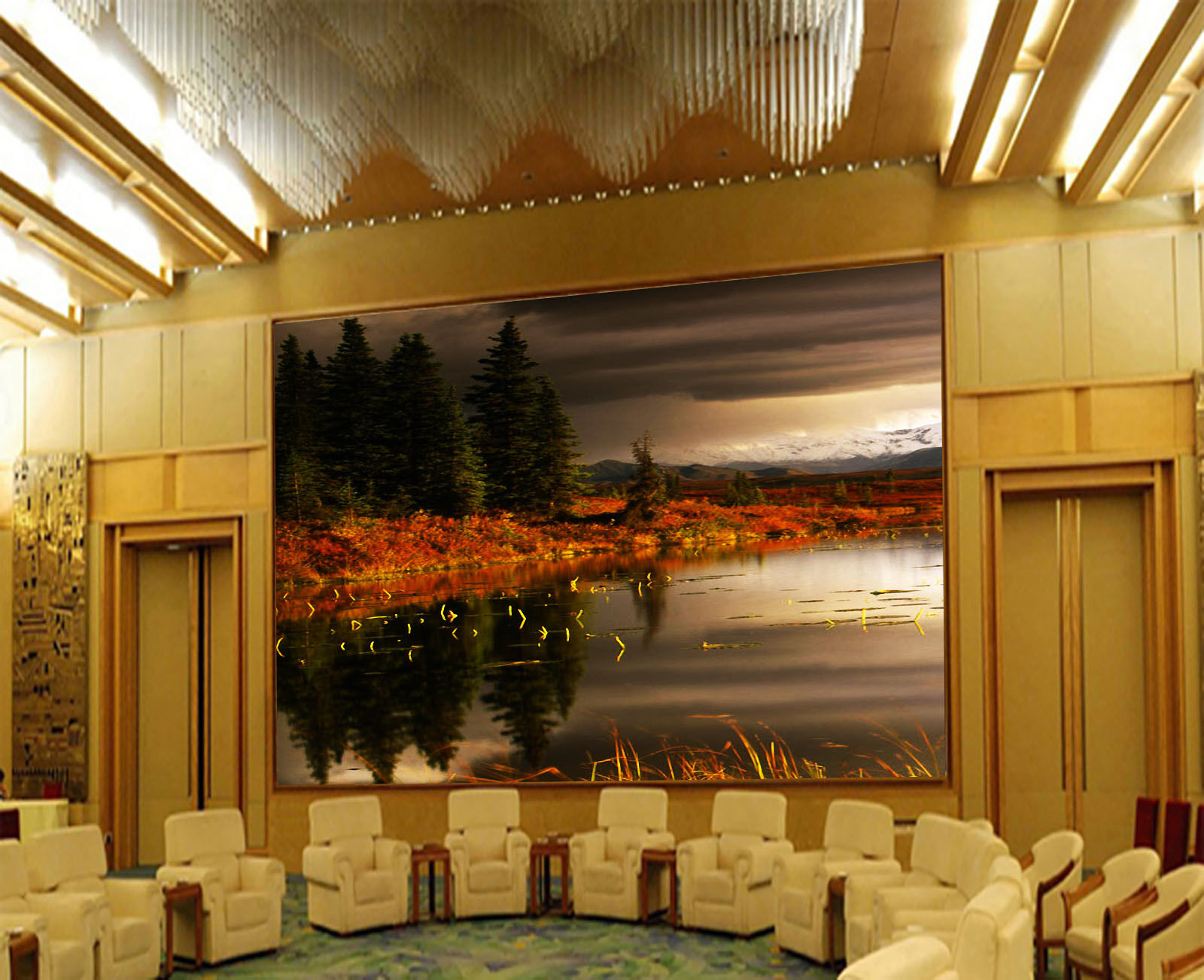 3D Cloudy Lake 2101 Wall Paper Wall Print Decal Wall Deco Wall Indoor Murals