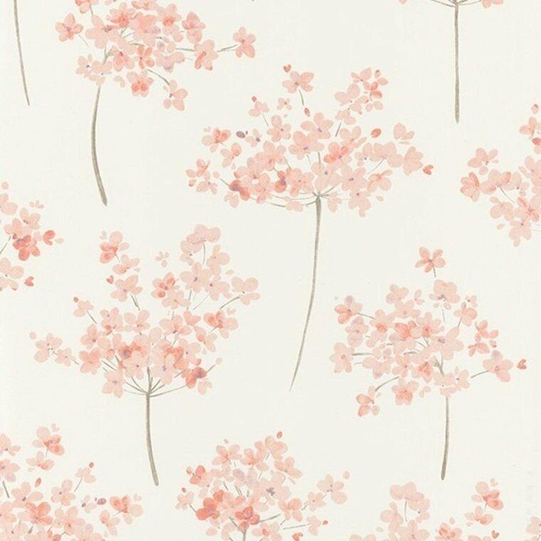 BEEP82281106 - Belle Epoque Peach Beige Floral Flowers Petals Casadeco Wallpaper