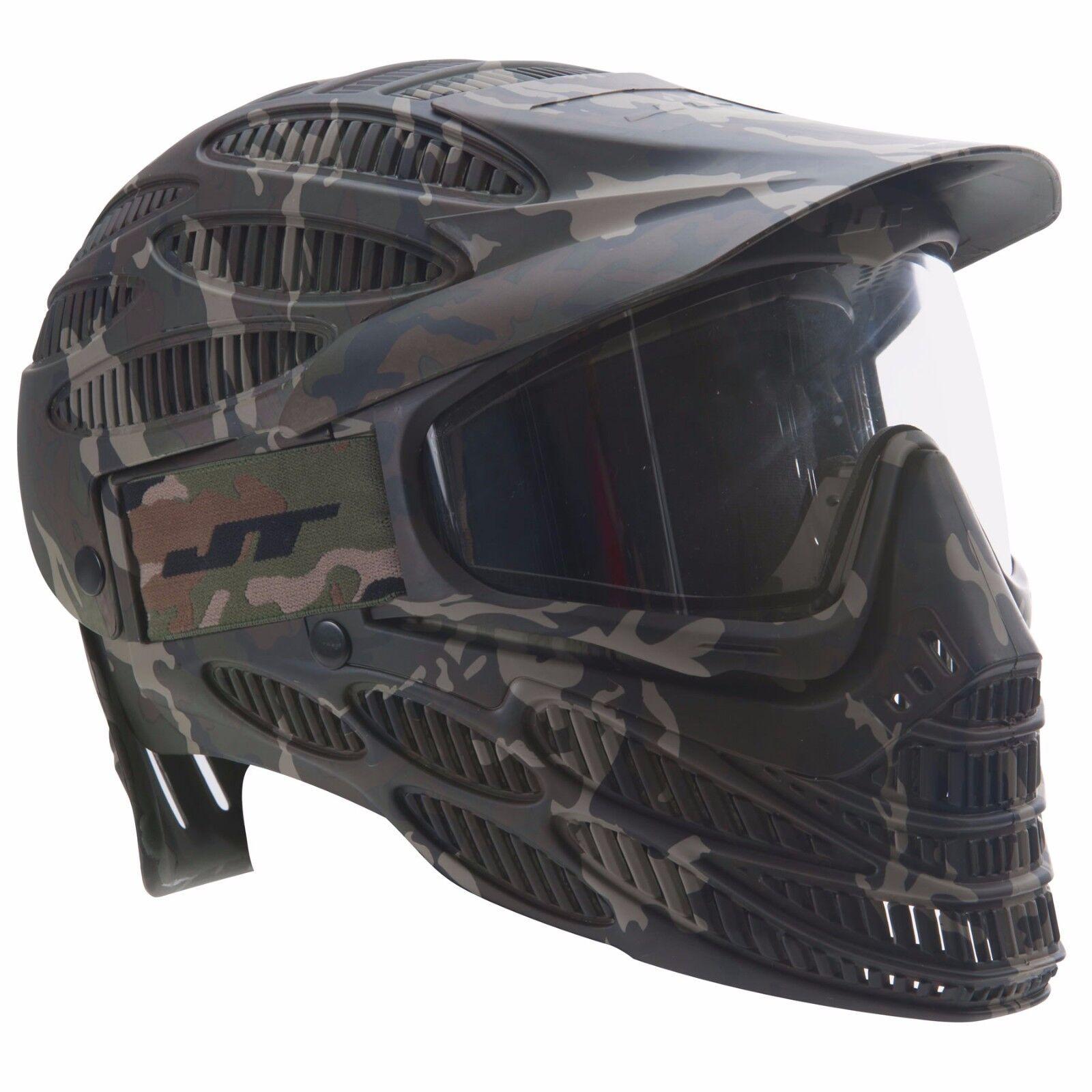 Jt Flex 8 Completa cabeza cubierta Paintball mask goggle-Térmico-Camo