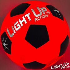 Light Up Soccer Ball Silver Edition by Light Up Action - LED LIT - Size 5