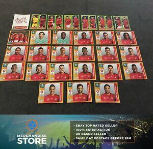 Panini euro 2020 Tournament Edition Completo Equipo Conjunto de todos 28 Pegatinas de Suiza