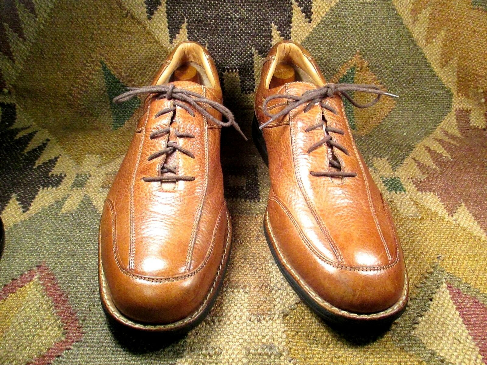 Johnston Murphy Sheepskin Brown Pelle Oxfords All weather soles size USA -13 M