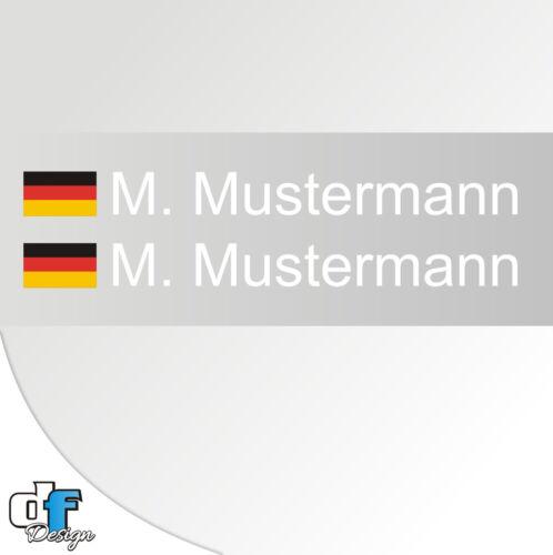2 Racing Nom Autocollant blanc drapeau Allemand Allemagne Drapeau Rennflaggen