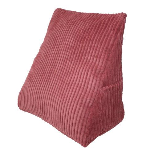 Strip Velvet Triangle Wedge Pillow Reading Backrest Cushion Sofa Headboard