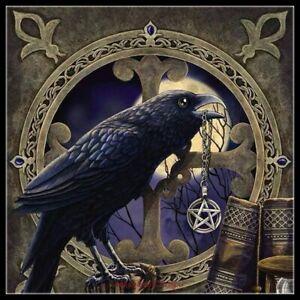 Talisman Crow Pentagram - Chart Counted Cross Stitch Pattern Needlework Xstitch