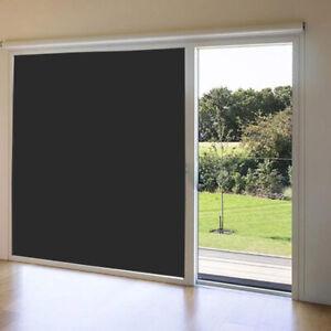 Details About Home Light Blocking Blackout Window Film Black Privacy Sticker Darkening