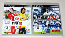2 PLAYSTATION 3 SPIELE SET - FIFA 12 & PES PRO EVOLUTION SOCCER 2012 - PS3