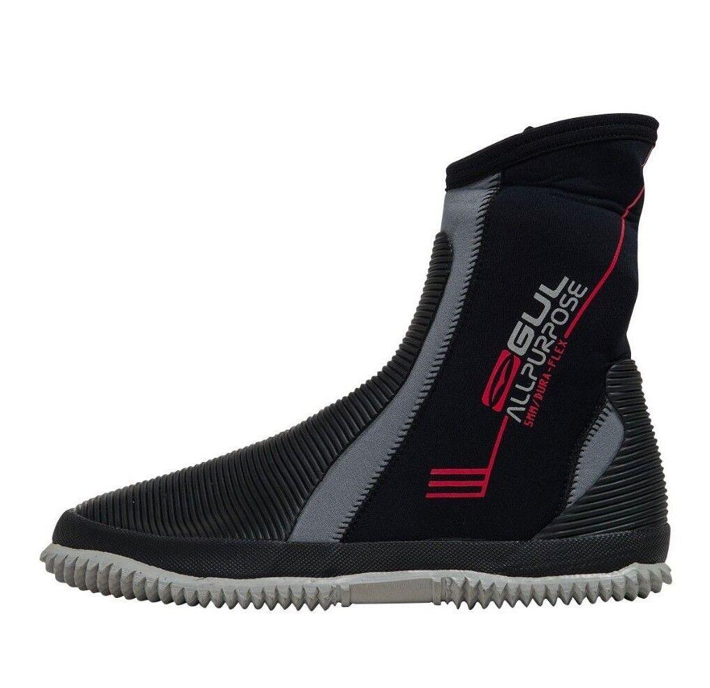 Gul 5mm All Purpose Boots Zipped Neoprene Wetsuit Surf Kayak Canoe Jetski