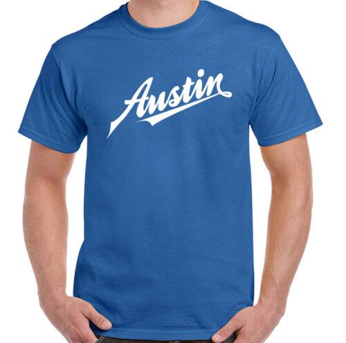 Austin T-Shirt Logo Homme Voiture Mini Cooper MG Rover Morris Moteur Company