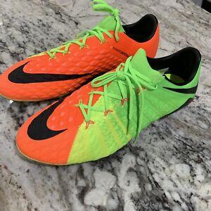 New-Nike-Hypervenom-Phantom-ACC-III-3-SG-Pro-ACC-Siz-13-Green-Orange-881939-309