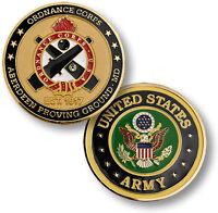 U.s. Army Ordnance Corps Aberdeen Proving Ground Challenge Coin. 61500.