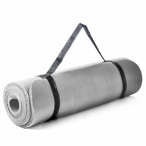 1.5cm Thick Grey Yoga Mat Exercise Workout Pilates Gym Mats Non Slip Sit Ups