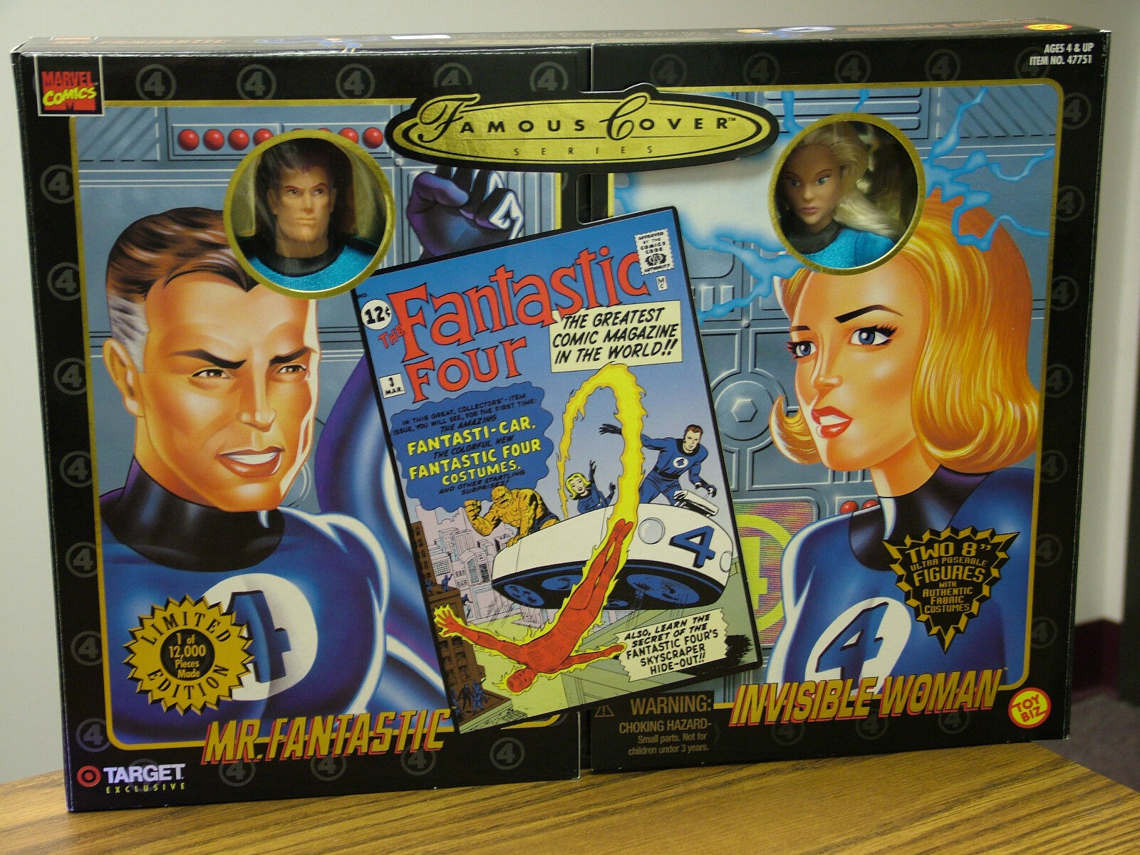 Famous Cover - Mr. Fantastic and Invisible Woman --  Limited Edition  1998