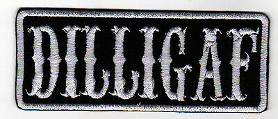DILLIGAF patch BIKER Bike Motorcycle MC SOA VEST OUTLAW Chopper JACKET (A004B/W)